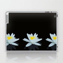 Waterlily Flowers On Black Background #decor #society6 #buyart Laptop & iPad Skin