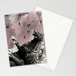 godzilla attack Stationery Cards