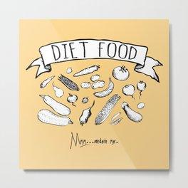 Diet Metal Print
