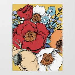 Bouquet Shield Poster