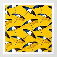 umbrella Art Prints featuring Umbrella  by Saundra Myles