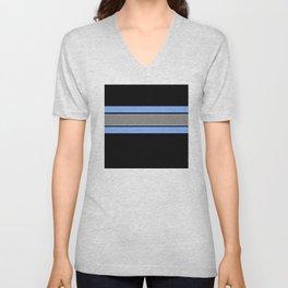 Team Colors 2...Light blue , gray Unisex V-Neck
