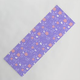 Cute bird and flower pattern Yoga Mat