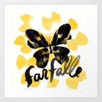 Farfalle | 100 Days of Cookbook Spots Art Print