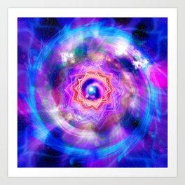 Flower of the Ultraviolet Sahasrara Art Print