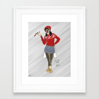devil Framed Art Prints featuring Devil by Ghost Filament