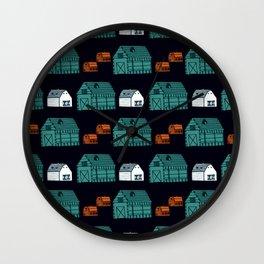 Barn Pattern Wall Clock