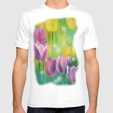 Tulips Mens Fitted Tee MEDIUM White