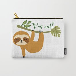 Cute Sloth, Veg out, Take it easy, Lazy Sloth Carry-All Pouch