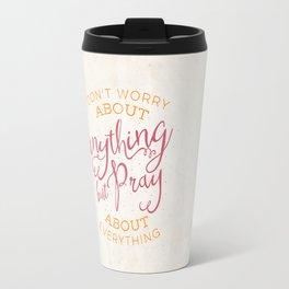 PRAYER OVER WORRY Travel Mug