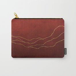 Ombre Red & Gold Carry-All Pouch