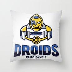 Desert County Droids Throw Pillow