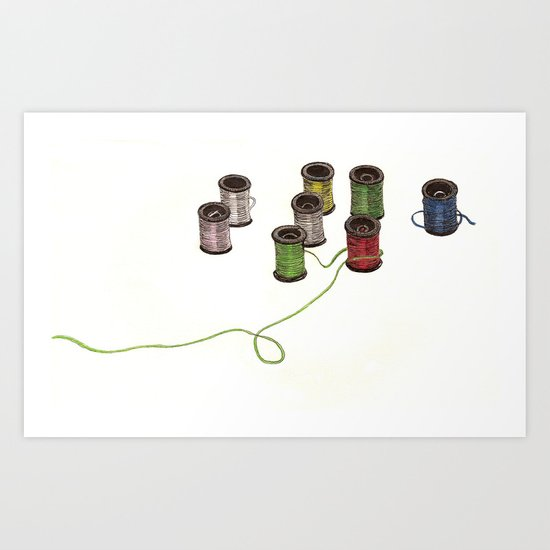 Thread Art Print