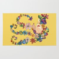 sleeping beauty Area & Throw Rugs featuring Sleeping Beauty by Shelley Ylst Art