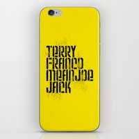 steelers iPhone & iPod Skins featuring Terry Franco Mean Joe Jack / Gold by Brian Walker