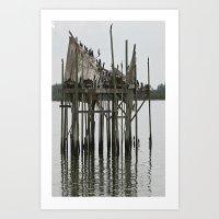 postcard Art Prints featuring postcard by Jean Tenhulzen