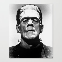 Frankenstein's Monster - Classic Horror Movies Canvas Print