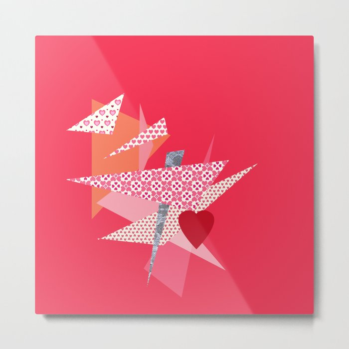 Valentines Abstract Metal Print