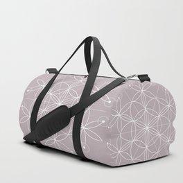 Annas Song Geometric Floral Duffle Bag