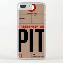 PIT Pittsburgh Luggage Tag 1 Clear iPhone Case