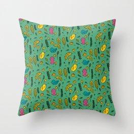 Cute Birds in Summer Throw Pillow
