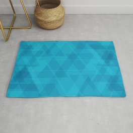 Gentle light blue triangles in the intersection and overlay. Rug