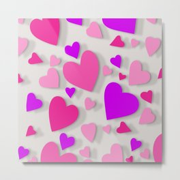 Decorative paper heart 4 Metal Print