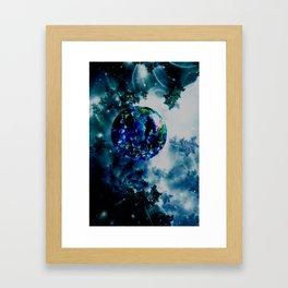Celestial Marble Framed Art Print