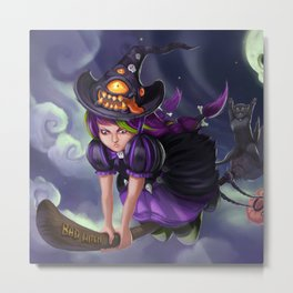 Cute Witch Metal Print