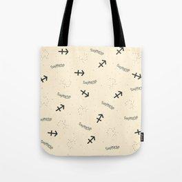 Sagittarius Pattern - Beige Tote Bag