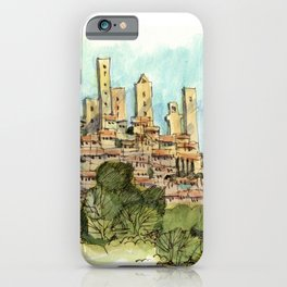 San Gimignano Hillside iPhone Case