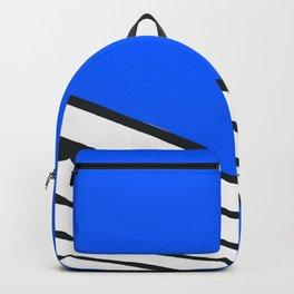 Geometric abstract blue skyline Backpack