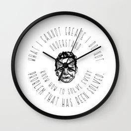 Richard Feynman Quotes Wall Clock