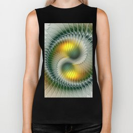 Like Yin and Yang, Abstract Fractal Art Biker Tank