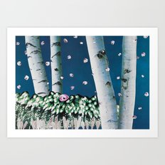 Quiet Snowfall Delivering Gifts of Beauty and Awe Art Print