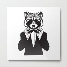 Fancy Raccoon Metal Print