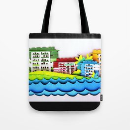 Rainbow Houses Tote Bag