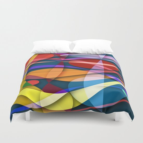 Abstract #358 Duvet Cover