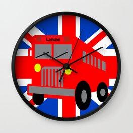 Bus in London Wall Clock
