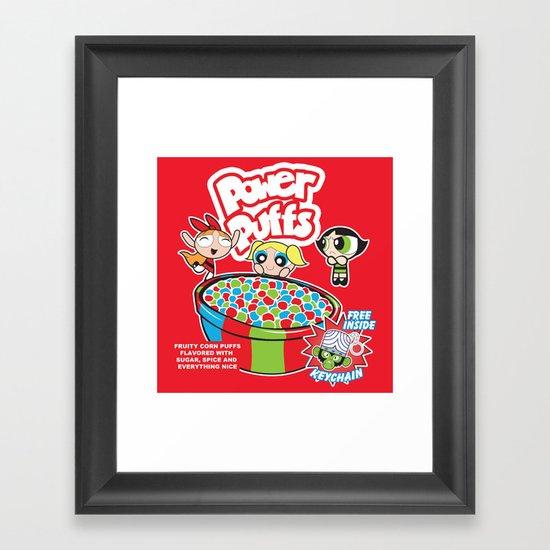 Power Puffs Cereal Framed Art Print