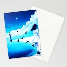 Lighthouse At The Sea Stationery Cards