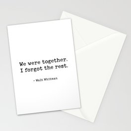 We Were Together Walt Whitman Stationery Cards