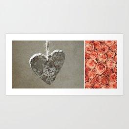 Roses diptych Art Print