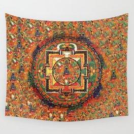 Buddhist Kalachakra Mandala DMT Vision Wall Tapestry