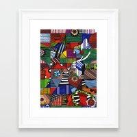 casablanca Framed Art Prints featuring CASABLANCA by AdriaColorado