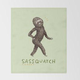 Sassquatch Throw Blanket