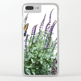 Flowers in the garden Clear iPhone Case
