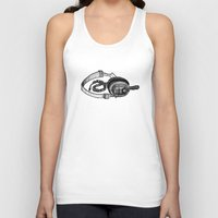 headphones Tank Tops featuring Headphones by ToppArt