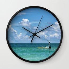 Fisherman Wall Clock