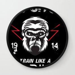 Jiu Jitsu Gorilla Martial Arts Fight MMA Wall Clock
